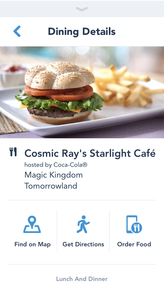Mobile Ordering at Walt Disney World