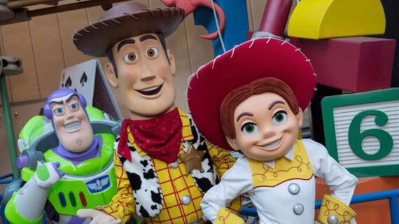 Pixar Characters in Toy Story Land at WDW
