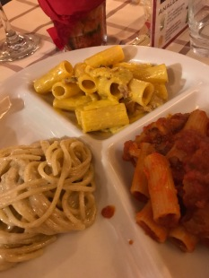 Tris of classic Roman pastas